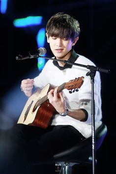 You can never pin too many pics of #Chanyeol #playing #guitar.
