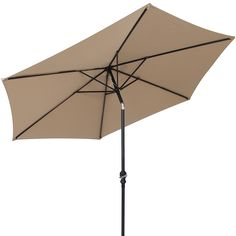 Amazon.com : Best Choice Products 10 FT Steel Market Outdoor Patio Umbrella  W/