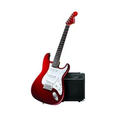 Fender Starcaster Electric Guitar Pack with Amp and Accessories, Candy Apple Red Buy Guitar, Guitar Kits, Cool Guitar, Fender Starcaster, Electric Guitar Accessories, Fender Electric Guitar, Guitar Cable, Guitar Tuners, Candy Apple Red