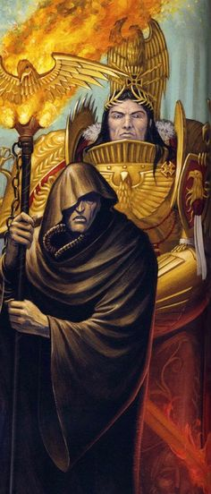 The Emperor of Mankind and Malcador the Sigillite