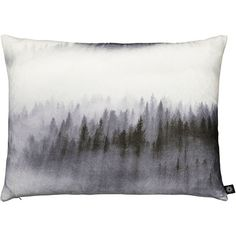 By Nord Treetops In Mist Cushion found on Polyvore