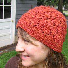 """Free hat pattern- """"Foliage"""".  I think green would be a nice color for this pattern."""