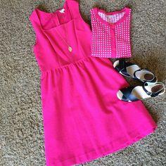 Spring Pink dress Pink dress. Worn once. Dresses