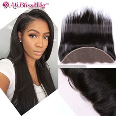 Lace Closures & Frontals Aliblisswig Ear To Ear Lace Frontal Closure 13x4 Free Part With Baby Hair Pre Plucked Brazilian Straight Human Hair Remy Hair