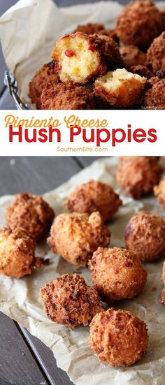 These Pimiento Cheese Hush Puppies need to be on your MUST MAKE list! The tangy�