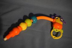 Bright Starts Bounce Bounce Baby Exersaucer Giraffe Beads Replacement Part Toy #BrightStarts