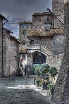 Medieval town of Viterbo in Maremma Laziale, the southern-most part of Maremma in Lazio territory. Borgo medievale -Viterbo, Italia