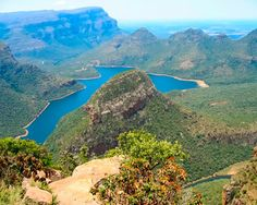 Blyde River Canyon  In addition to being one of the largest canyons in the world, the Blyde River Canyon is one of the most spectacular sights on the African continent. Some of the most dramatic views and stunning natural phenomena can be found along the Blyde River in South Africa, and a great variety of plant and animal life flourish on this reserve.