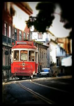 Lisbon - vintage tram, a unique way to travel along the city: up and down the hills Portugal, Electric Train, Ways To Travel, Street View, Lifestyle, City, Unique, Vintage, Lisbon