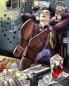 Jeremiah Valeska from Gotham drawn by on ig. Joker Batman, Batman Comics, Batman Robin, Gotham Joker, Joker Art, Gotham Font, Gotham Comics, Batman Art, Gotham City