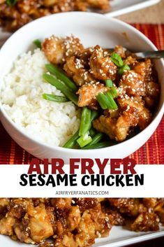 a great air fryer chicken recipe with this Air Fryer Sesame Chicken. It's t Make a great air fryer chicken recipe with this Air Fryer Sesame Chicken. -Make a great air fryer chicken recipe with this Air Fryer Sesame Chicken. Air Frier Recipes, Air Fryer Oven Recipes, Air Fryer Dinner Recipes, Air Fryer Chicken Recipes, Air Fryer Recipes Gluten Free, Chicken Flavors, Keto Chicken, Sesame Chicken Recipes, Air Fryer Recipes Asian