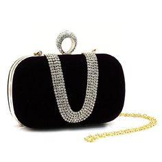 b8eede478f Party Women Bag Rhinestone Clutch Handbag Ring Bridal Evening Shoulder  Chain Free Shipping #TAE Wedding