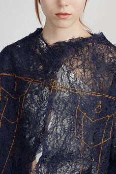 Faustine Steinmetz - See Through Painted Yarn Jacket