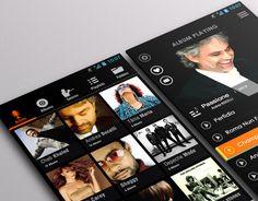 Flat Mobile App Music Player