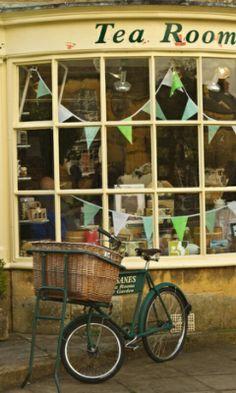 Tea Room.  Bicycle.