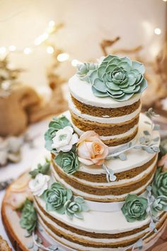 Delicious Prickly Wedding Cakes And Cupcakes ❤ Casual elegance of these prickly wedding cakes lived as breathless. See more: http://www.weddingforward.com/prickly-wedding-cakes/ #weddings #cakes