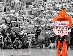 I love OSU basketball games!!!  I was at a Bedlam basketball game when we did this!