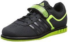 adidas  Powerlift2,  Unisex Erwachsene Hallenschuhe , Grau - Grey (Dark Grey/Solar Yellow/Core Black) - Größe: 38 - http://on-line-kaufen.de/adidas/38-eu-adidas-powerlift2-unisex-erwachsene-4