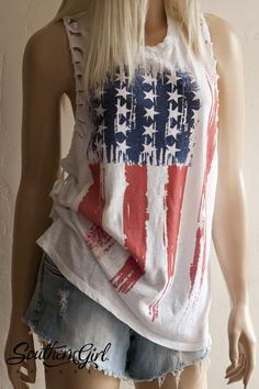 American Flag Braided Racerback Tank Top – Limited Edition – Hair Style For Women 4th Of July Outfits, Summer Outfits, Summer Clothes, American Flag Tank, American Flag Apparel, Southern Girl Outfits, Summer Shirts, Racerback Tank Top, Country Girls