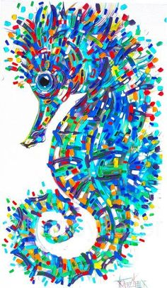 Floating on a Dream Tracey Keller Seahorse Painting Seahorse Painting, Seahorse Art, Turtle Painting, Acrylic Painting Canvas, Canvas Artwork, Seahorses, Underwater Painting, High Art, Painting & Drawing