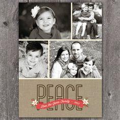Peace Banner- DIGITAL Custom Christmas Holiday Photo Card