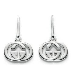 GUCCI GG 18ct silver drop earrings 145 p