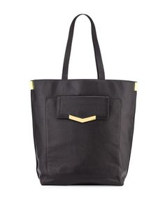 Kai+Glazed+Leather+Tote+Bag,+Black+by+Time\'s+Arrow+at+Neiman+Marcus+Last+Call.