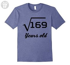Men's Square Root Of 169 Funny 13 Years Old 13th Birthday T-Shirt 3XL Heather Blue - Birthday shirts (*Amazon Partner-Link)