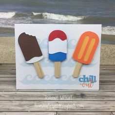 i love 2 cut paper: Chill Out - Popsicles - Pazzles Design Team