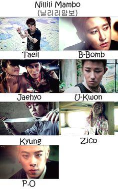 Block B Nillili Mambo Who's Who | KpopInfo114