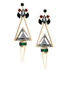 ASOS Jewelled Triangle Earrings