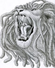 dreadlock lion tattoo - Google Search