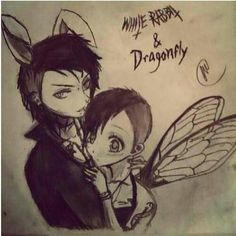 Ok so this is SOOOO adorable!!!! Andy is her white rabbit and Juliet is his dragonfly! It's cute because those are both uncommon pet names but they make them cute!