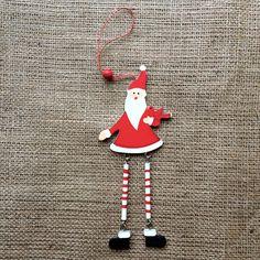 Christmas Decoration Wooden Long Leg Santa Christmas Decorations, Christmas Ornaments, Holiday Decor, Long Legs, Elf On The Shelf, Moonlight, Santa, Handmade, Design