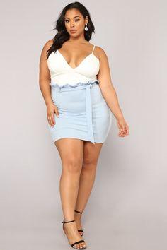 Plus Size Excuse My French Dress - White/Blue $29.99 #fashion #ootd #outfit #oufits #moda #plussize #dress #dresses #plussizeclothing #plussizedress #curve #curvy #sexy #curvydress #curvyclothing #fashionnow #fashionshow #bbw #dressesthe #vintage