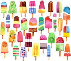 Margaret Berg Art: Summer Popsicles!