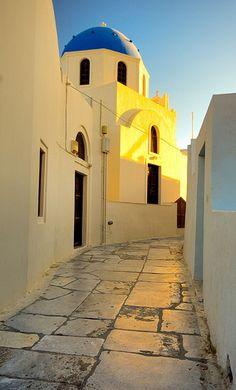 Santorini, Greece - it looks just like the pix, pristine white, blue skies, azure sea, fabulous food & wine.