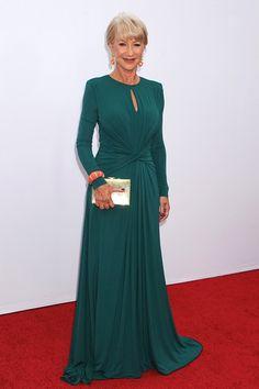 Helen Mirren in a pre-autumn/winter 2013-14 Elie Saab dress