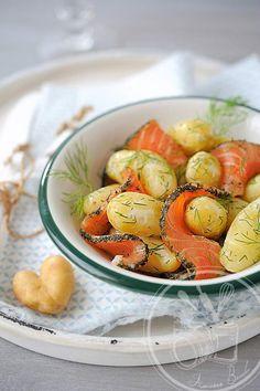 Salade de Ratte du Touquet et saumon gravlax