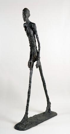 Alberto Giacometti-Walking man.1960 -I saw emptiness...