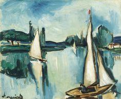 Maurice de Vlaminck (France 1876-1958) Le Perreux (n.d.) oil on canvas 38 X 45.9 cm
