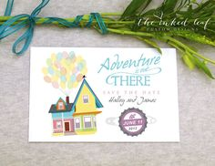 Adventure is Out There - Up Themed Save the Date Card #disney #pixar #wedding