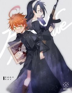 Yakusoku no Neverland (The Promised Neverland) Image - Zerochan Anime Image Board Bff Pictures, Manga Pictures, Read Anime, Anime Angel, Mystic Messenger, Neverland, Handsome Boys, Me Me Me Anime, Cute Art
