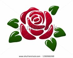 Find Abstract Glossy Red Rose Vector Illustration stock images in HD and millions of other royalty-free stock photos, illustrations and vectors in the Shutterstock collection. Stencil Rosa, Rose Stencil, Stencil Designs, Paint Designs, Rose Heart Tattoo, Flower Art Drawing, Rock Flowers, Henna Designs Easy, Turtle Pattern