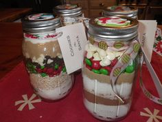 homemade jars of cookie mix - fun christmas gifts my kids made for their teachers.