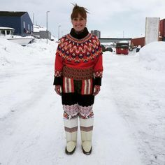 In Greenland, the majority of the populace are either full or partially Inuit, a people who have lived self-sufficiently on the island for tens of thousands of years.  So they hunt and eat and wear what they kill. The clothing they made hundreds of years ago is still being made today — in the same way.