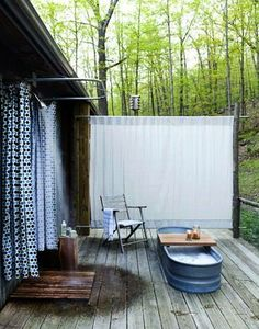 Outdoor shower.   https://www.facebook.com/AmazingFactsandNature1?fref=nf