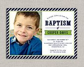 LDS Baptism Invitation - Cooper
