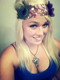 Brown Lace and Peacock headband by DoubleSRodeoCo on Etsy, $10.00  Bronc Necklace by DoubleSRodeoCo on Etsy, $15.00