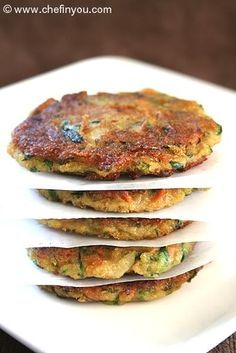 Zucchini fritters Recipe   Fried Zucchini Potato Pancakes